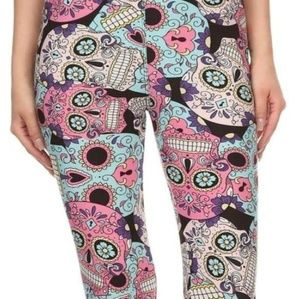 Pants - Pastel sugar skull leggings